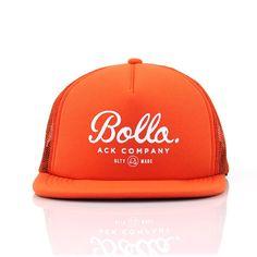 d0a0c8899 INSIGNIA TRUCKER HAT - ORANGE Custom Woven Labels