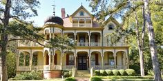 Rosemont, the circa-1894 home is on the market for $699,000—and that includes 3.5 acres of grounds with a pecan orchard +. - Waxahachie, Texas,  known affectionately as Gingerbread City : countryliving - Aug 26, 2015