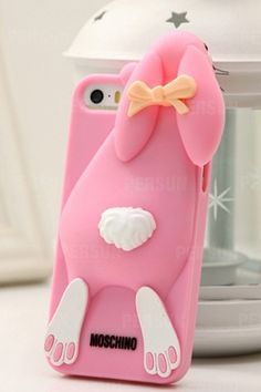 Bucktooth Rabbit Silicone for iPhone 5 & 5S [FEIC0037] - PersunMall.com [Thanks, @Verona Sugarpink, my beautiful <3]