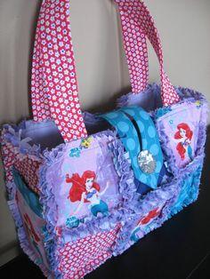 Disney Ariel The Little Mermaid Purse Bag Rag by BizzyMamas