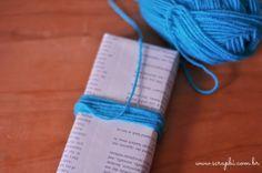DIY - Embalagem para presente com pompom