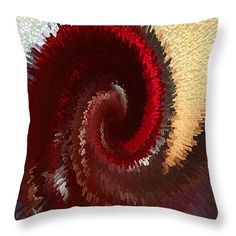 """Flushed Throw Pillow 14"""" x 14"""" by Marnie Patchett"""