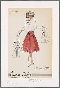 Frizzifrizzi » Tesori d'archivio: i bozzetti di abiti anni '50 e '60 dei Creators Studios