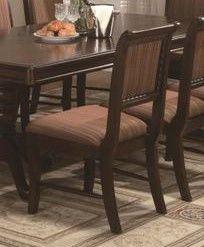CROWN2146S-Merlot Side Chair Stripe Cushion