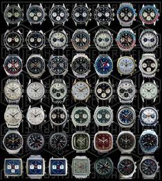 Vintage Heuer Chronographs . . . 49 of them!!