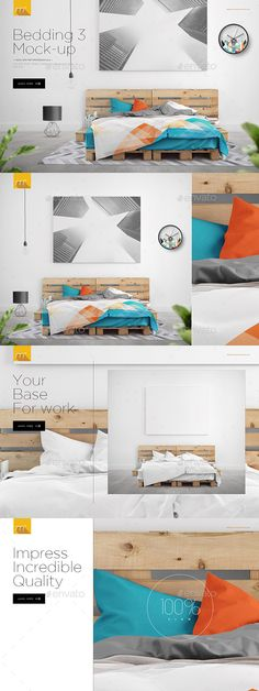 Bed on Pallets Mock-up  -  PSD Template • Only available here! ➝ https://graphicriver.net/item/bed-on-pallets-mockup/17192984?ref=pxcr