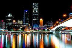 Brisbane by night.