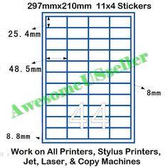 Sheets A Brown Kraft PreCut Sticker Paper Self Adhesive