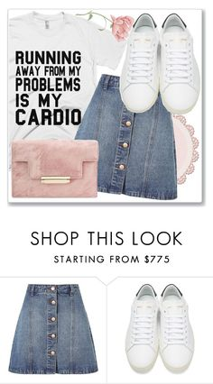 """""""Running away"""" by mana-man ❤ liked on Polyvore featuring Anita & Green and Yves Saint Laurent"""