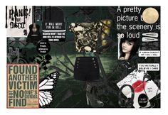 """""""Panic At The Disco-Miss Jackson"""" by flowercrownsandsunglasses ❤ liked on Polyvore featuring Mirror Image Home, Tarina Tarantino, Skullcandy, LE3NO, Monki, H&M, WearAll, Forever 21 and Hot Topic"""