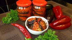 vinete borcan Tandoori Chicken, Preserves, Stuffed Peppers, Vegetables, Ethnic Recipes, Desserts, Food, Yandex, Natural