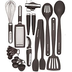 @Overstock - This 17-piece kitchen tool and gadget set from KitchenAid includes everything you need to work your way around the kitchen. The attractive, nylon utensils are strong and durable, yet gentle on cookware. http://www.overstock.com/Home-Garden/KitchenAid-Black-17-piece-Kitchen-Tool-Gadget-Set/6312578/product.html?CID=214117 $39.99