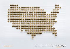 """Student Flights: """"Fly to America for only 242 cheeseburgers."""" #Advertising"""
