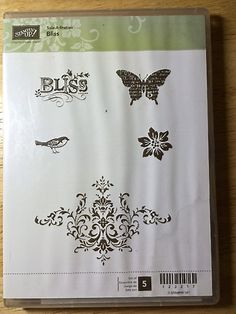 Bliss stamp set by Stampin Up by catscardsandcoffee on Etsy