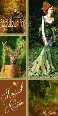 Good evening ladies. Tonight I'd like to pin this Magical Autumn Mood Board that I have made. Please pin Autumn pins of green, brown and rust. Happy Pinning