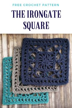 This free crochet pattern is a wonderfully intricate yet simple to make granny square! The Irongate Square is part of #sundaysquares in which a new square pattern is released by hooks & sunshine each week. #crochetsquare #freecrochetpattern