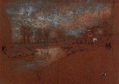 Campo Santa Marta, Winter Evening by Whistler , Whistler ,