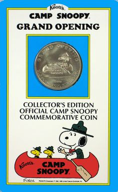 Knott's Camp Snoopy Grand Opening Commemorative Silver Coin (1992): Snoopn4pnuts.com