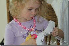 Decoupage is an excellent fine motor scissors activity for young children!