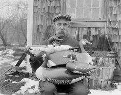Joe Lincoln of Accord, champion decoy maker of New England, 1926
