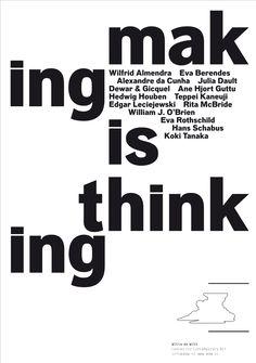 Portada del catálogo de la exposición Making is thinking.