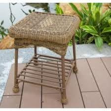 Wicker Lane Outdoor White Wicker Patio Furniture End Table Outdoor Wicker Furniture, Outdoor Decor, Cheap Patio Furniture, End Tables, Love Seat, Ottoman, Indoor, X21, Classic Beauty