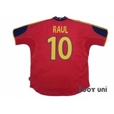 Photo2: Spain Euro 2000 Home Shirt #10 Raul UEFA Euro 2000 Spain Home Shirt  adidas - Football Shirts,Soccer Jerseys,Vintage Classic Retro - Online Store From Footuni Japan