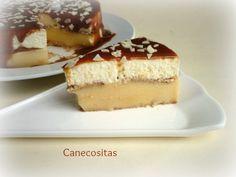 Tarta de los domingos, con crema pastelera y nata