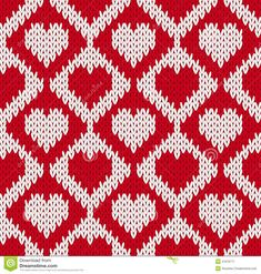 Seamless knitted pattern with hearts Slip Stitch Knitting, Knitting Stitches, Baby Knitting, Embroidery Stitches, Tapestry Crochet Patterns, Lace Knitting Patterns, Stitch Patterns, Heart Patterns, Pattern Blocks