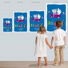 Poster de la colección Los increíbles dibujos de Bibi para decorar habitación infantil.  Formatos Standard: A4 (21 x 28 cm) y A3 (29 x 42cm) impreso en
