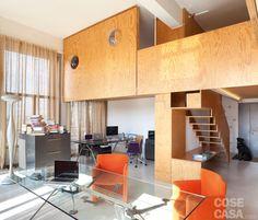 Loft: una casa con materiali protagonisti e soppalco per aumentare la metratura - Cose di Casa