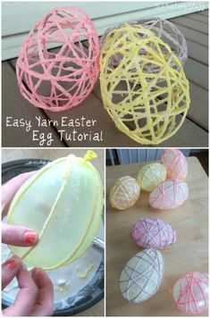 Yarn Easter egg crafts knitted 58 Fun and Creative Easter Crafts for Kids and Toddlers Yarn Crafts For Kids, Easter Crafts For Toddlers, Easter Arts And Crafts, Bunny Crafts, Easter Projects, Preschool Crafts, Easter Egg Crafts, Children Crafts, Easter Treats