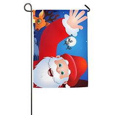 Christmas Santa Claus Coming Town Home Garden Flag For House Decoration 1827inch *** Continue to the product at the image link.