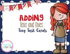 Adding Tens and Ones Tiny Task Cards
