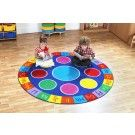 Rainbow ABC Carpet Heavy Tuf-Pile™ School Furniture, Pre School, Early Childhood, Wooden Toys, Beach Mat, Outdoor Blanket, Carpet, Kids Rugs, Rainbow