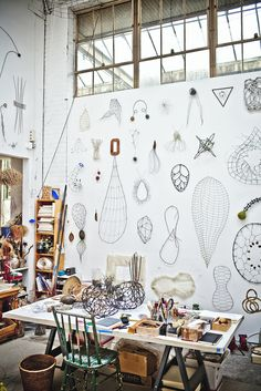 The wire sculpture artist tips for giant projects draw the finished idea on a mood board in front of your work space