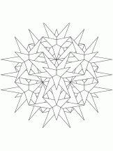 Mandala à colorier kaléidoscope étoiles