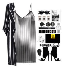 Black and White Power by j4wahir on Polyvore featuring polyvore fashion style Marco de Vincenzo Daniel Wellington Bobbi Brown Cosmetics Christian Dior Urban Decay clothing monochrome contestentry womensFashion polyvorefashion polyvoreset