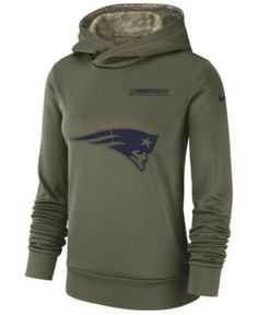 Nike Women s New England Patriots Salute To Service Therma Hoodie - Green M  Salute To Service d5ee0347b