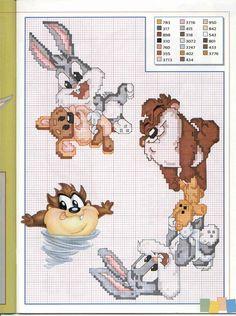 ENCANTOS EM PONTO CRUZ: Baby Looney Tunes