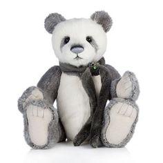 "Charlie Bears Collectable Iggy 15"" Plush Panda"