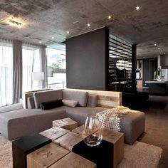 Beautiful living designed by Site Interior Design.