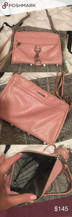 Pink Rebecca Minkoff Mini Mac Used only a few times. Includes dustbag. Can be worn crossbody, on the shoulder or as a clutch. Rebecca Minkoff Bags Crossbody Bags