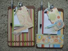 Altered Clipboards for Craft Show by curlycurlyhair - Cards and Paper Crafts at Splitcoaststampers