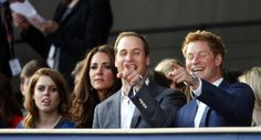 Beatrice, Kate, Wills, and Harry at the Jubilee concert last night