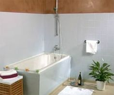 Painting Tile In Bathroom how to brighten up a bland bathroom | painting bathroom tiles