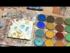 Wax on Wednesdays Adding Stencils to Your Encaustic Surface - YouTube