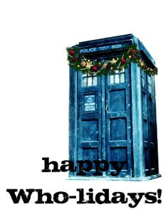 Doctor Who Inspired Christmas Card Freebies!  Happy Who-lidays!