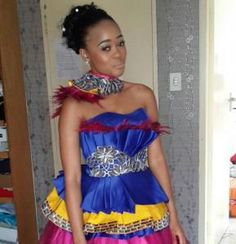 would frown at the thought of not wearing white on their wedding day but the gorgeous Mantwa Matlala wore traditional Sepedi garb for her wedding to Julius Malema Pedi Traditional Attire, Sepedi Traditional Dresses, African Traditional Wedding Dress, African Wedding Dress, Cute Wedding Dress, Traditional Fashion, Wedding Attire, Chic Wedding, African Weddings