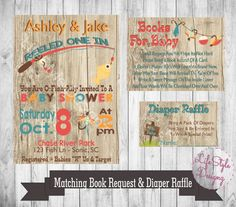 Fishing Baby Shower Invitation   They Reeled One In   Little Boy Baby Shower Fisherman  Baby Shower   Fish   Rustic Baby Shower   Fishing Rod